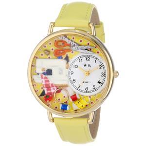 裁縫 黄色レザー ゴールドフレーム時計 #G0450001|soranoshouten