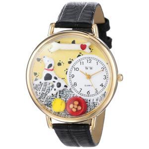 ダルメシアン 黒レザー ゴールドフレーム 時計 #G0130031|soranoshouten