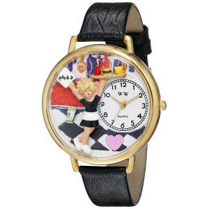ウエイトレス 黒レザー ゴールドフレーム時計 #G0630004|soranoshouten