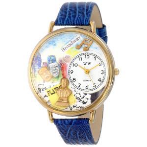 演劇 紺レザー ゴールドフレーム 時計 #G0420008|soranoshouten
