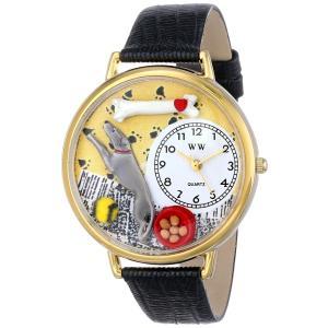 グレイハウンド 黒レザー ゴールドフレーム時計 #G0130046|soranoshouten