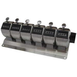 ステンレス製 6連式 数取器 (カウンター) HM404-6|soranoshouten