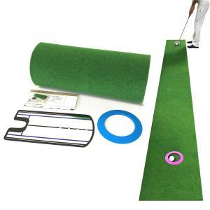Danact ゴルフ練習器具 距離感練習パターマットセット 45cm×3m(ミラー型練習器具付き)|soranoshouten