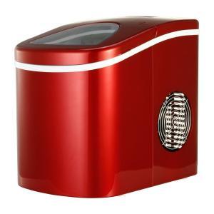 Shop405 製氷機 家庭用 新型 高速 自動製氷機 (氷 2サイズ )かき氷 レジャー アウトドア 簡単 大容量 レッド 405-imcn01 soranoshouten