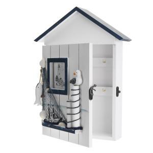 WINOMO キーボックス キー ケース 壁掛け 家庭用収納ボックス 地中海風|soranoshouten