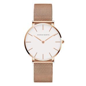 レディース 腕時計 Hannah Martin おしゃれ クラシック シンプル 女性 時計 ビジネス クォーツ watch for women(ホワイト)|soranoshouten