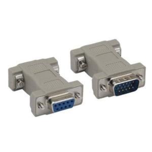 Kentek DB9 9ピンメス-HD15 HDD15 15ピンオス オス-メス M/F成形 CGA/VGA ビデオアダプター ジェンダーチェンジャー カプラー RS-232|soranoshouten