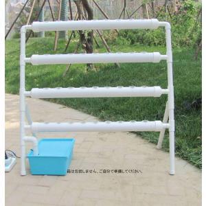INTBUYING 水耕栽培キット プランター 野菜 室内と庭園栽培器 梯子型 スポンジ かご鉢 ポンプ付き|soranoshouten