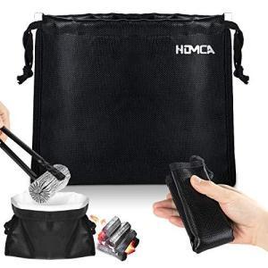 HOMCA 火消し袋 コンパクト 難燃性 安心安全 キャンプ サイズアップ M 25*25cm アップグレード版|soranoshouten
