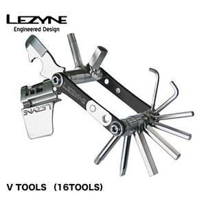 (LEZYNE)レザイン V TOOLS (16TOOLS)自転車用ツール A7075をCNC加工し...