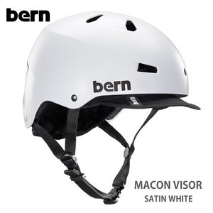 (Bern) バーン ヘルメット MACON バイザー /Satin White|sore