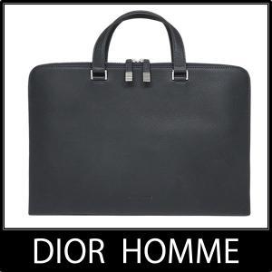 ディオールオム Dior HOMME ブリーフケース ビジネスバッグ LEATHER GRIS AR...
