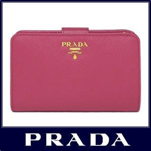 PRADA プラダ 二つ折り 財布 サフィアーノ ペオニア ...