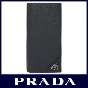 PRADA プラダ メンズ 長財布 サフィアーノブラック S...