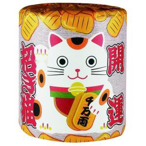 【粗品 記念品】トイレットペーパー 招福招き猫(1ロール)  まとめ売り/安いに!|soshina