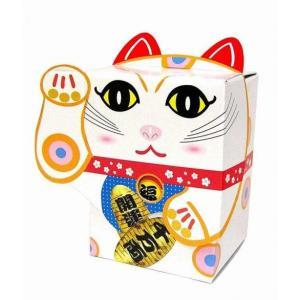 【粗品 記念品】BOX招き猫 白 40W  まとめ売り/安いに!|soshina