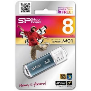 粗品/記念品/販促品向けUSB 3.0 (Icy Blue) Marvel M01[8GB] (購入単位:30個〜) 卸売り/もらって嬉しい/オリジナル対応に! soshina