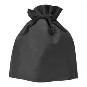 販促品/名入れ/イベント向け不織布巾着(黒) (購入単位:66個〜)安価/安い/まとめ売りに!