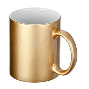ノベルティ 記念品 フルカラー転写対応陶器マグカップ(320ml)(ゴールド)  ノベルティ/オリジナル印刷|soshina