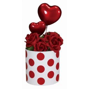 ノベルティ 記念品 [店舗装飾品]バレンタインミニポット レッド  店頭飾り/春|soshina