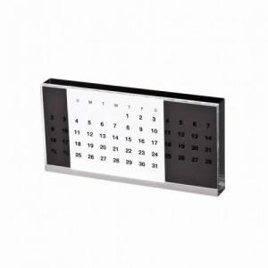 ノベルティ 記念品 アクリル万年カレンダー ブラック |soshina