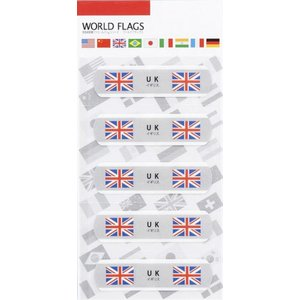 名入れ/販促品/ノベルティ向け国旗の絆創膏ワールド フラッグスC-イギリス (購入単位:400個〜)卸売り/オリジナルまとめ買い/ばらまきに!|soshina