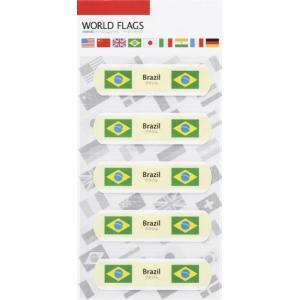販促品/名入れ/粗品向け国旗の絆創膏ワールド フラッグスC-ブラジル (購入単位:400個〜)配布用/安い/まとめ売りに!|soshina