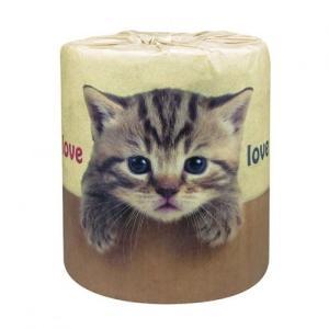 ノベルティ/名入れ/販促品向けやっぱり猫が好き トイレットペーパー 1ロール (購入単位:100個〜) まとめ売り/安い/もらって困らないに!|soshina