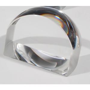 ノベルティ 記念品 [2D・3Dレーザー加工代込] ペーパーウエイト拡大鏡 中 ※別途版代  soshina