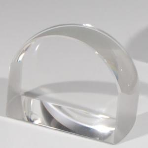 ノベルティ 記念品 [2D・3Dレーザー加工代込] ペーパーウエイト拡大鏡 小 ※別途版代  soshina