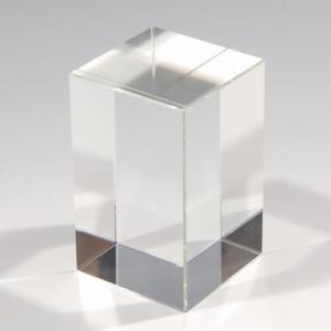 ノベルティ 記念品 [2D・3Dレーザー加工代込] クリスタルキューブ ※別途版代  soshina