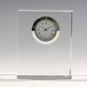 ノベルティ 記念品 [2D・3Dレーザー加工代込] 時計付き 四角  ※別途版代  soshina