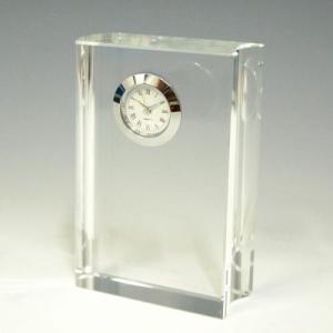 ノベルティ 記念品 [2D・3Dレーザー加工代込] 時計付き ブック型 ※別途版代  soshina