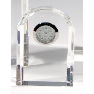 ノベルティ 記念品 [2D・3Dレーザー加工代込] 時計付き アーチ形 ※別途版代  soshina