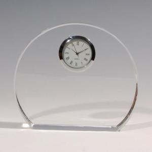 ノベルティ 記念品 [2D・3Dレーザー加工代込] 時計付き 丸形 ※別途版代  soshina
