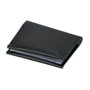 記念品・大量購入のお見積歓迎向け本革カードケース(黒) (購入単位:2個〜)新入社員/男性/新卒者に!|soshina