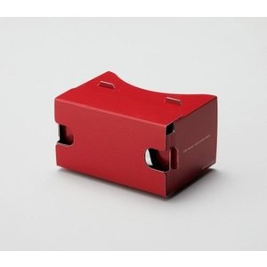 名入れ/ノベルティ/販促品向けVRヘッドマウントボックス(レッド) (購入単位:10個〜) 卸売り/もらって嬉しい/まとめ買いに!|soshina