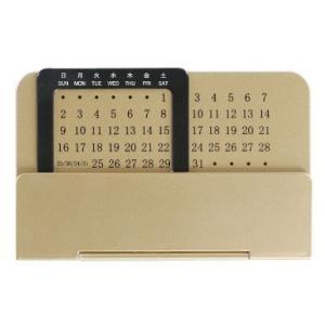 ノベルティ 記念品 金色のスライド万年カレンダー |soshina