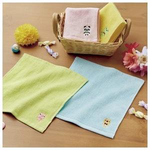 ノベルティ/景品/粗品向け刺繍がキュートなアニマルハンドタオル (購入単位:300個〜)安い/安価/まとめ買いに! soshina