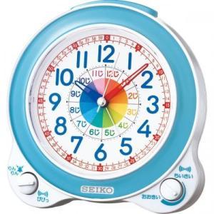 置時計カテゴリのセイコー 知育目覚まし時計 ブル...の商品画像