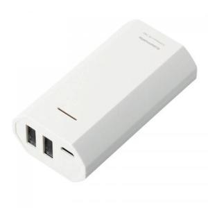 ノベルティ/粗品/販促品向けモバイルバッテリー5200 ホワイト (購入単位:1個〜) 卸売り/オリジナル対応/短納期に!|soshina