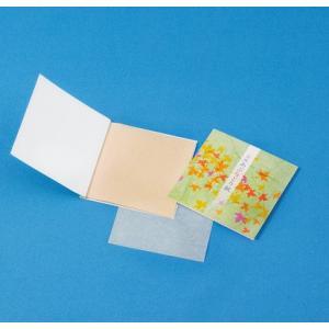 販促品/名入れ/ノベルティ向けノベルティ向けあぶらとり紙(茶紙) 紅葉 10枚入 (購入単位:1000個〜)配布用/低単価/ばらまきに!|soshina
