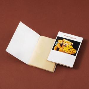 販促品/ノベルティ/粗品向けあぶらとり紙(茶紙) クマのおやこP 150枚入 400個セット (購入単位:1個〜)ばらまき/プリント/まとめ売りに!|soshina
