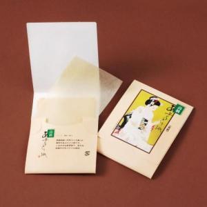 ノベルティ/名入れ/販促品向けあぶらとり紙(茶紙) まいこ化粧N 100枚入 500個セット (購入単位:1個〜)卸売り/配布用/ばらまきに!|soshina