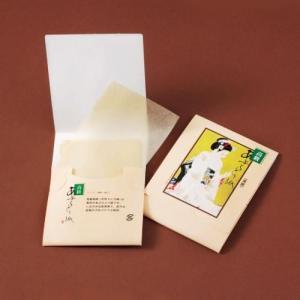 販促品/ノベルティ/粗品向けあぶらとり紙(茶紙) まいこ化粧N 150枚入 350個セット (購入単位:1個〜)オリジナルまとめ買い/卸売り/安価に!|soshina