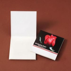 販促品/名入れ/粗品向けあぶらとり紙(白紙) 紅いバラP 150枚入 250個セット (購入単位:1個〜)まとめ売り/低単価/ばらまきに!|soshina