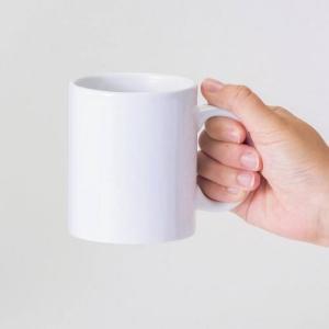 記念品/ノベルティ/販促品向け陶器マグ ストレート(M+) ホワイト (購入単位:45個〜)オリジナルまとめ買い/卒園/卒業に!|soshina