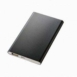 ノベルティ/名入れ/販促品向けアルミモバイルチャージャー4000(安全規格:UL認証取得) ブラック (購入単位:60個〜) 見積もり人気/オリジナル対応/短納期に! soshina