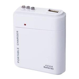 粗品/記念品向け乾電池式USB充電器(白)  まとめ買い/卸売りに! soshina