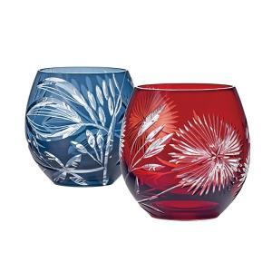 ノベルティ 記念品 [サンドブラスト加工代込] 切子グラス ペアセット GL-14 ※版代別途  名入れ陶器/記念品|soshina